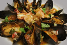 Mussels & King Crab In Red Sauce