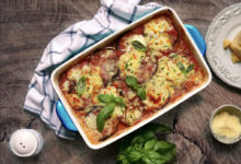 Gluten Free Grilled Eggplant & Zucchini Parmigiana